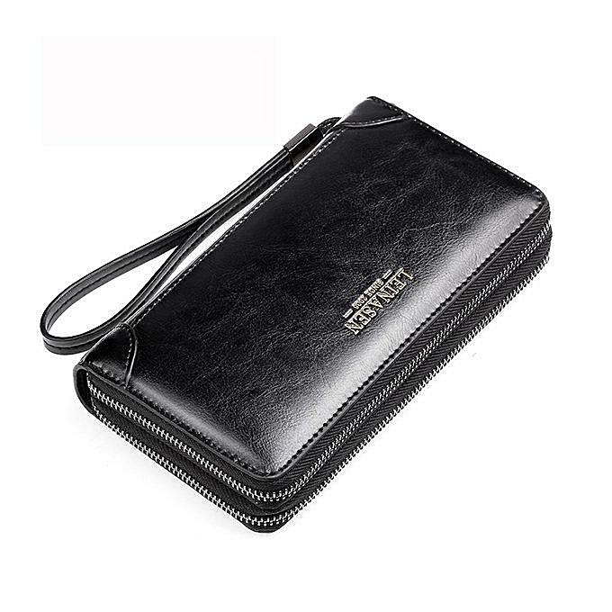 Fashion PU hommes clutch bag, portable bag, three-Couleur oil wax, a generation à prix pas cher