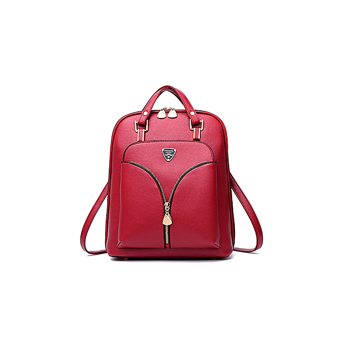 Fashion YOUNNE femmes PU Backpack Female Simple Style Zipper Design Backpacks Lady Luxury Lock Shoulder Bag For Young Girl Schoolbag Bao à prix pas cher