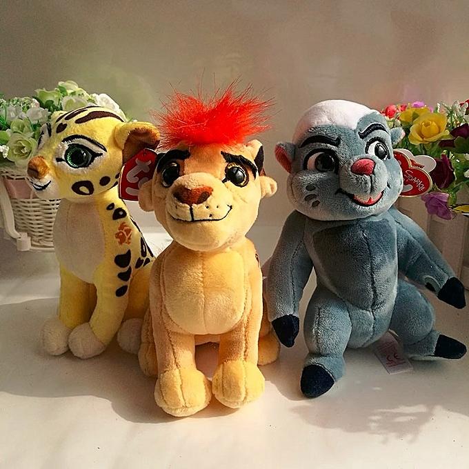 Autre The Lion Guard Kion beshte hippo fuli cheetah bunga honey badger TY SPARKLE 1PC 15CM Plush Toys Stuffed animals(fuli) à prix pas cher