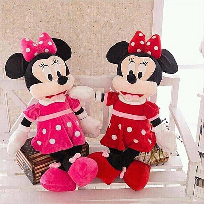 123 peluche poupée de dessin animé (Minnie - 80cm - rouge) à prix pas cher