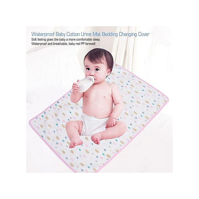 Other imperméable   Cotton Urine Mat Diaper Nappy Bedding Changing Cover Pad rose Packed (M) à prix pas cher