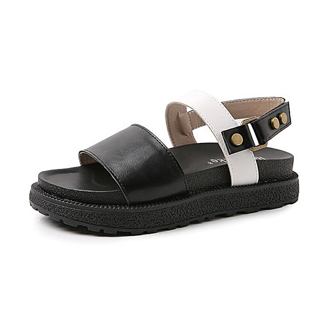Fashion Summer Casual Embroidery Comfy Flat Sandals à prix pas cher