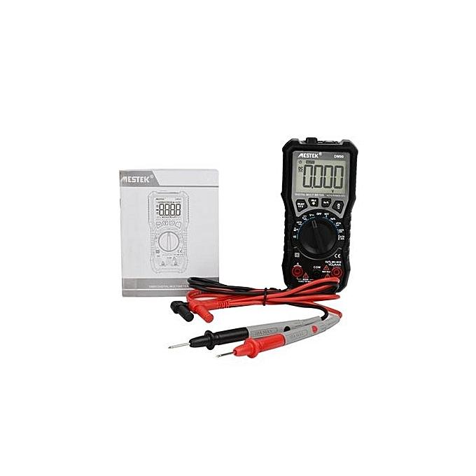 Generic UJ DM90 Mini Digital Multimeter Auto Range AC DC Volt Amp Ohm Diode NCV Tester-noir à prix pas cher