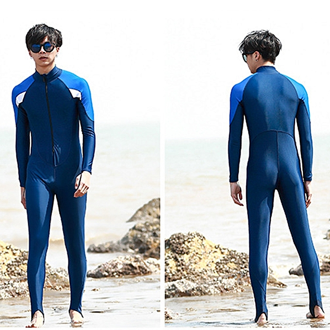 UNIVERSAL Men One-piece Long Sleeve Snorkeling Wetsuit Sunscreen Full Body Swimwear Diving Suit, Taille  5XL à prix pas cher