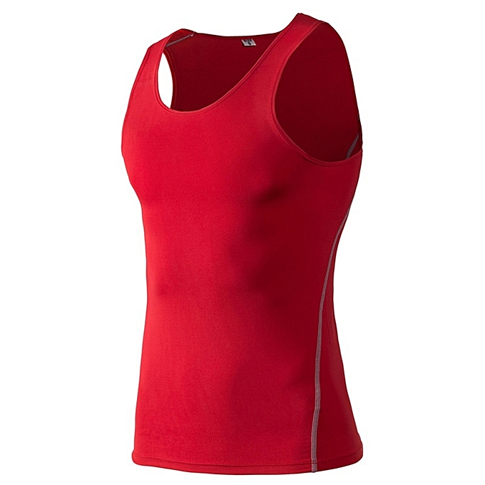 Other mode Hommes& 039;s Muscle Gym Sleeveless Tank Top Shirt -rouge à prix pas cher