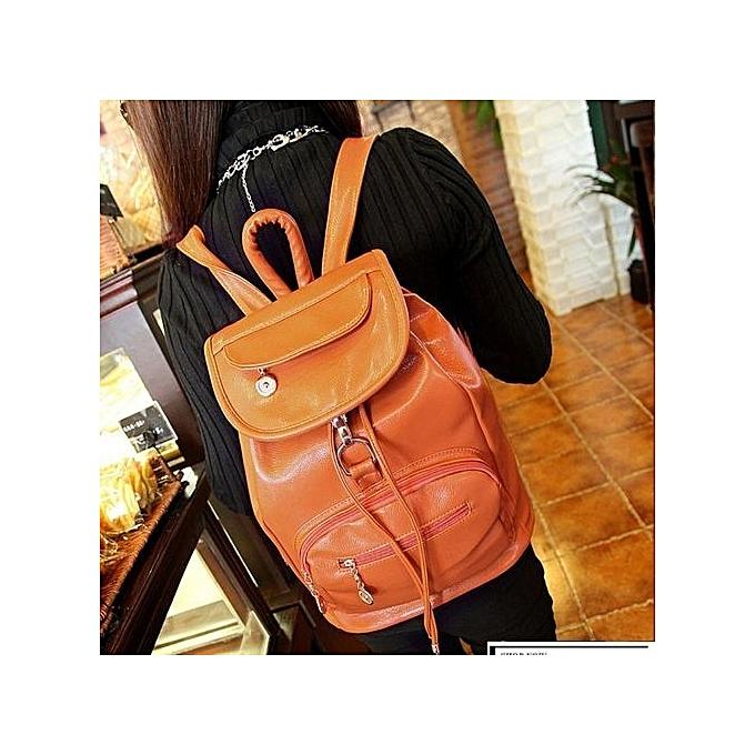 nouveauorldline Vintage Wohommes sac à dos voyage cuir Handsac sac à dos Shoulder School sac BW-marron à prix pas cher