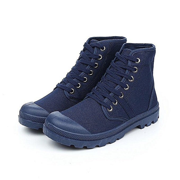 Fashion Other Wohommes chaussures Fashion High Top Canvas chaussures Casual new arrived bleu-EU à prix pas cher    Jumia Maroc