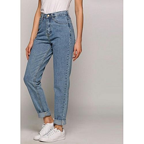 3ab8b9ba425d5 KATZE Pantalon jeans Boyfriend destroy -bleu clair