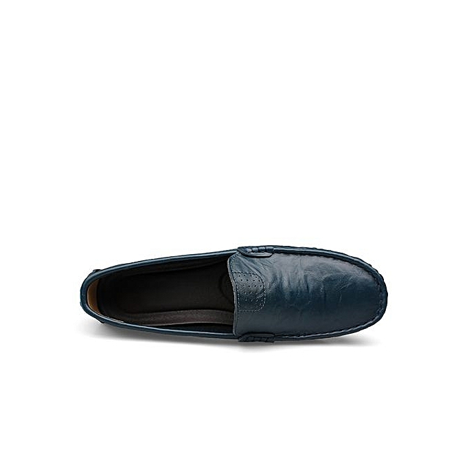 Fashion    s Anti-SLIP Leather Loafer Comfortable Driving Shoes Plus Size-Blue à prix pas cher  | Black Friday 2018 | Jumia Maroc 74097f