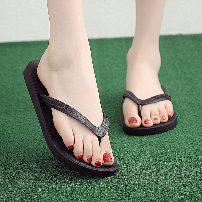mode Hiamok mode Couple Slippers Non-Slip Flip Flops Clip Toe Flat Botton plage Slippers à prix pas cher