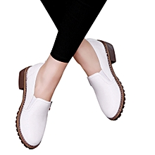 aa9a06a4219 Women  039 s Ladies Shoes Fashion Ankle Flat Oxford Leather Casual Shoes  Short Boots