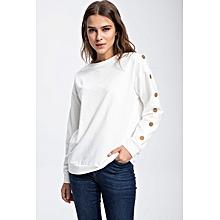 6826953cfb06 T-shirt à manches longues - Blanc