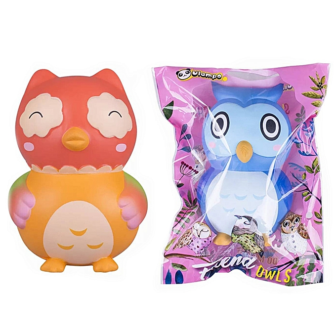 UNIVERSAL Vlampo Owl Squishy 151010CM Licensed Slow Rising With Packaging Collection Gift-Light bleu à prix pas cher