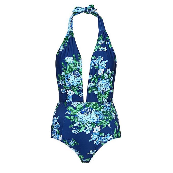 mode ZEN femmes& 039;s Retro One-piece Open Back High Waist maillot de bain à prix pas cher