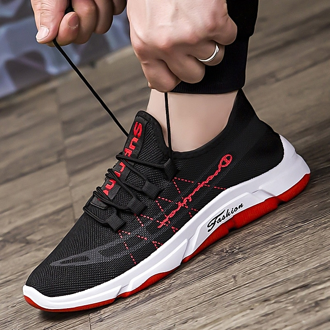 Other Men's Breathable Sports chaussures Running chaussures Walking Outdoor chaussures-rouge à prix pas cher