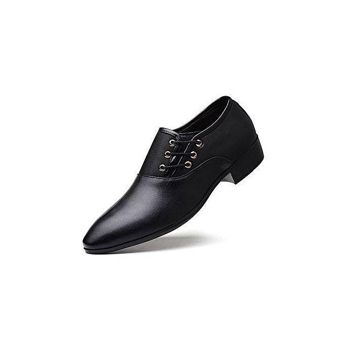 OEM Men's Formal chaussures Oxford chaussures Men's Leather chaussures - noir à prix pas cher    Jumia Maroc