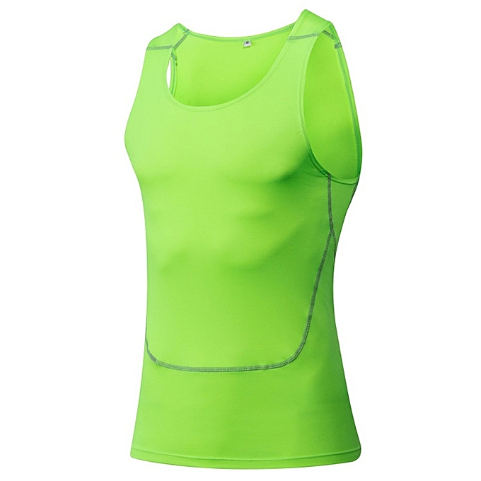 Other Stylish Men's Tight Basketball Tank Tops Fitness Vest Singlets Tight -Fluorescent vert à prix pas cher