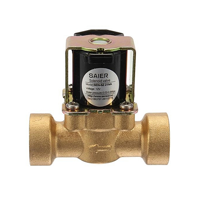 UNIVERSAL 12V DN15 G1 2'' Normally Closed Solenoid Valve 2-Way Brass Fluid Control Switch or à prix pas cher