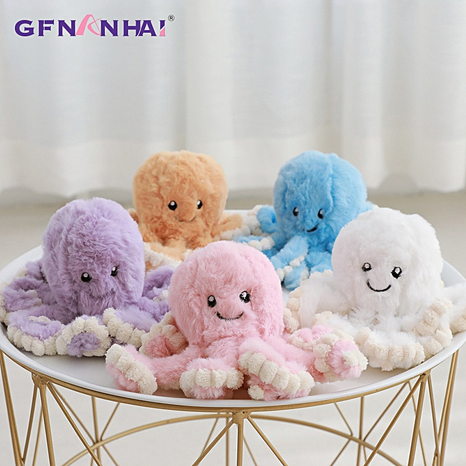 Autre 1pc 18cm Cute Rabbit Hair kawaii Octopus Doll Ocean Octopus Plush Toys Stuffed   Appease Soft Tentacles Toys Birthday Gift(blanc) à prix pas cher