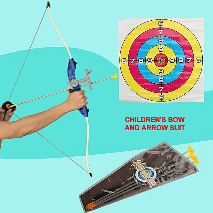 Autre 1 1.8 Archery Shooting Bow and Arrow for Enfants de plein air Hunting Game Suction Cup Arrows Target Quiver de plein air Garden Fun Game à prix pas cher