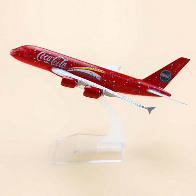 OEM nouveau1 400 Airplane Malaysia Coca Cola A380 Airlines plane alloy model 16cm 6.3in à prix pas cher