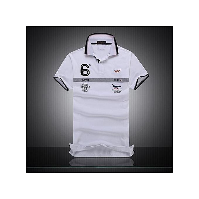 Fashion Cotton AERONAUTICA MILITARE Air Force One polo shirt Embroidery Aeronautica Men Military polo shirt-blanc à prix pas cher