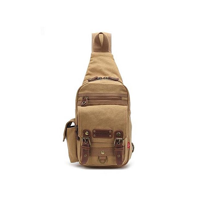 Generic Hommes Chest Pack sac For Hommes Décontracté toile Shoulder sac à prix pas cher