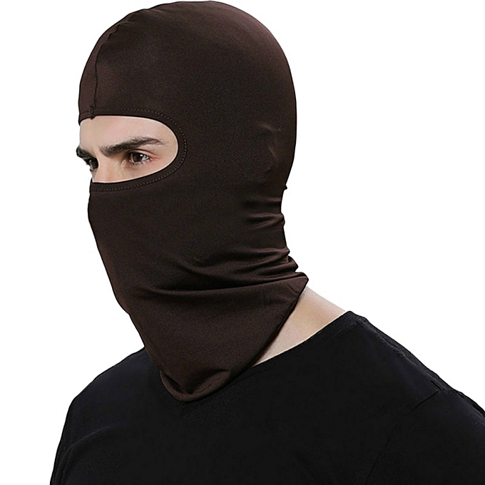 Autre 2019 New Upgrade Outdoor Sports Neck Motorcycle Face Mask Winter Warm Ski Wind Cap Police Cycling Balaclavas Face Tactical Mask( Coffee) à prix pas cher