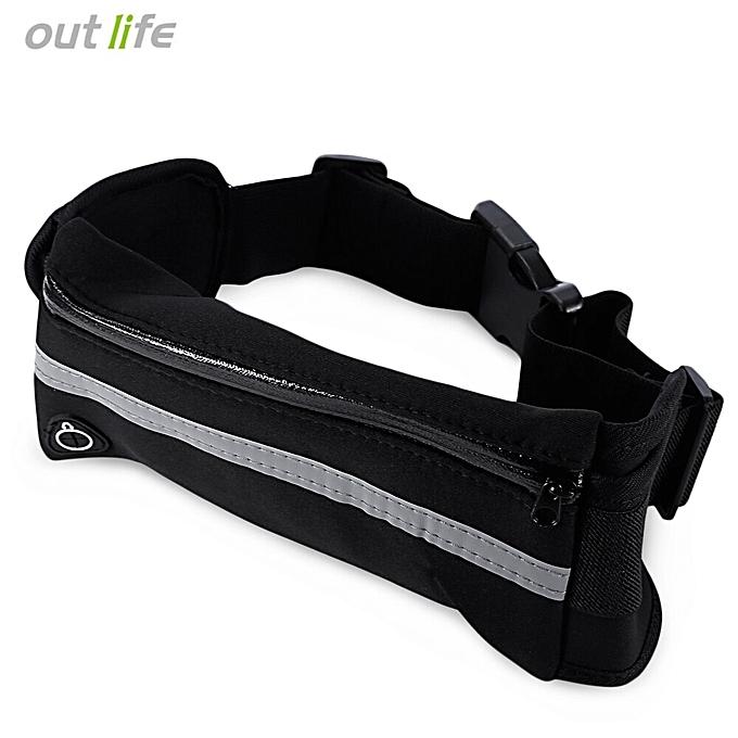 AONIJIE Outdoor Sport Water Resistant Running Bag Anti-theft Marathon Belt Pack(noir) à prix pas cher