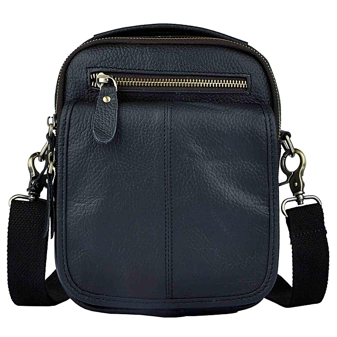 Other Quality Leather Male Multifunction Fashion Messenger bag Casual Design Cross-body One Shoulder bag Satchel Tote School Bag 8025d(noir) à prix pas cher