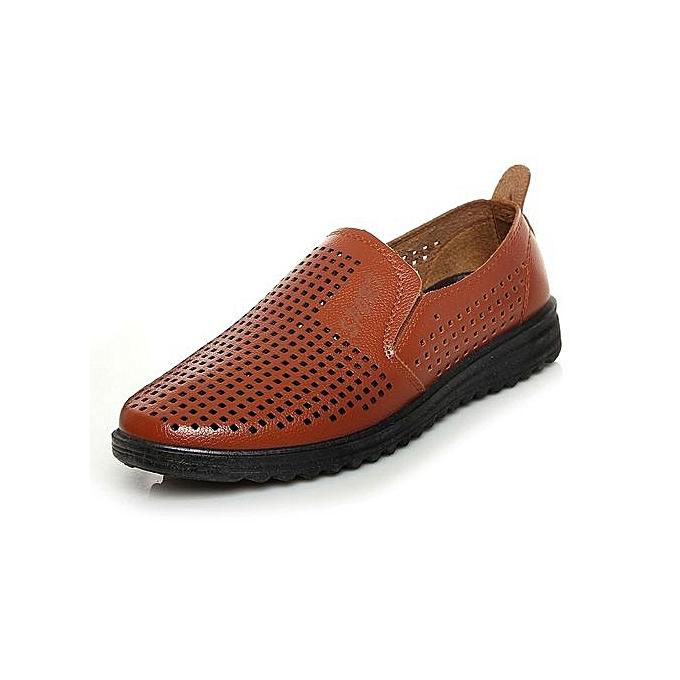 Générique Summer Causal Shoes   Loafers Quality High Quality Loafers Leather Moccasins   Driving Shoe Flats For Man Plus Size-Jaune  à prix pas cher    Jumia Maroc 3d8a10