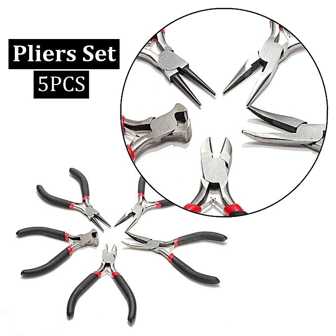 Autre 5Pcs Jewellery Mini Pliers Set Kit Cutter Chain Round Bent Needle Nose Beading Repair Tool Kit DIY Hand Tools à prix pas cher