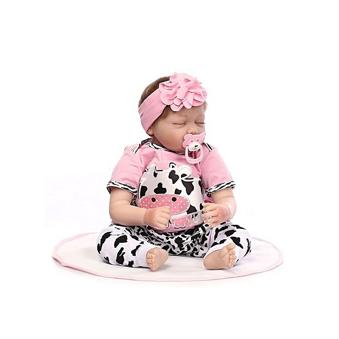 Generic DM Sweet Girls Sleeping Realistic Lifelike Silicone Reborn nouveauborn   Doll-multi-Couleur à prix pas cher