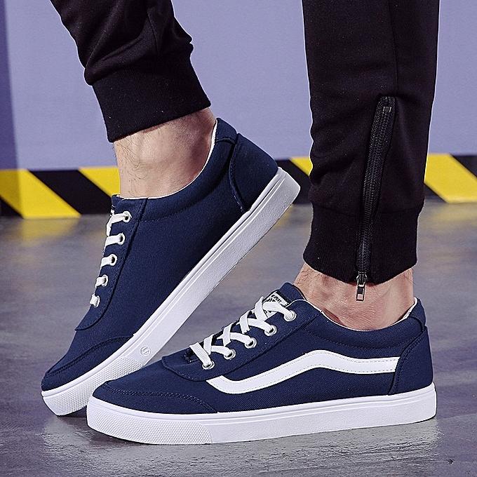 Other mode Student Hommes Spbague Décontracté chaussures Faible-uppers Solid Couleur paniers -bleu à prix pas cher