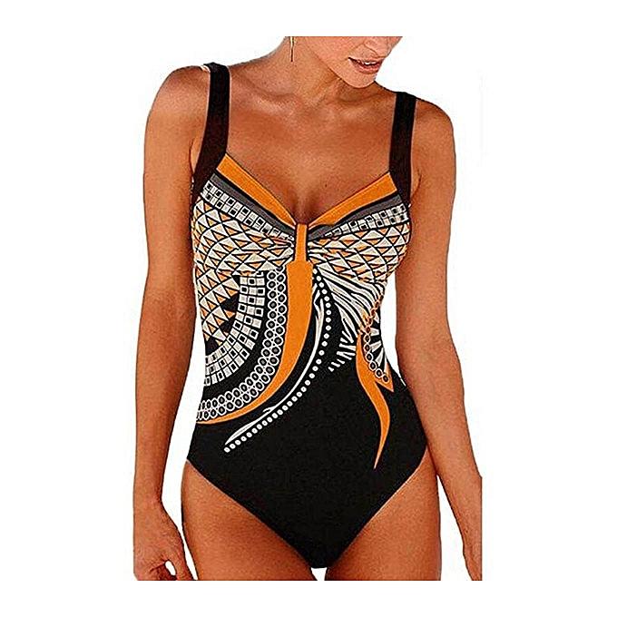 Autre Halter Retro Geometric Backless maillot de bain femmes nouveau plage Wear Feamle Taille maillot de bain XXL(OE) à prix pas cher