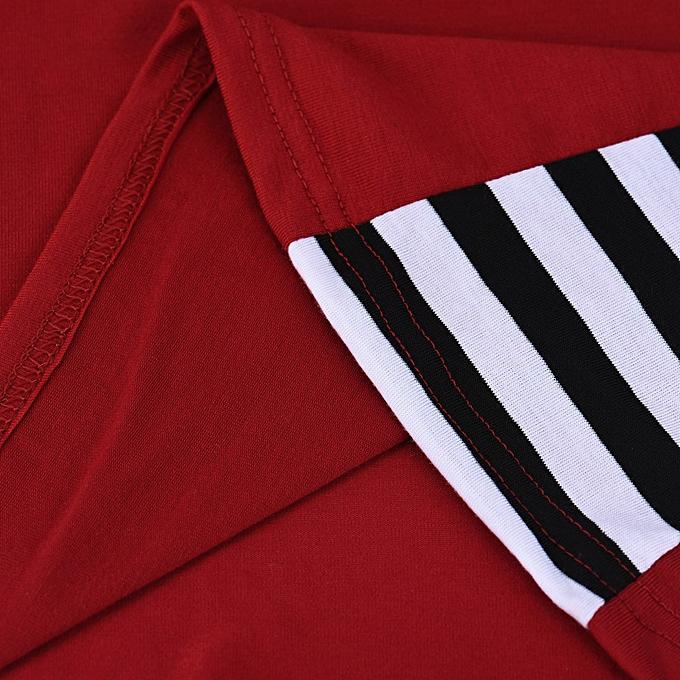 mode Meibaol store femmes rayé Printed manche longue T-Shirt hauts Décontracté chemisier Shirt WE M à prix pas cher