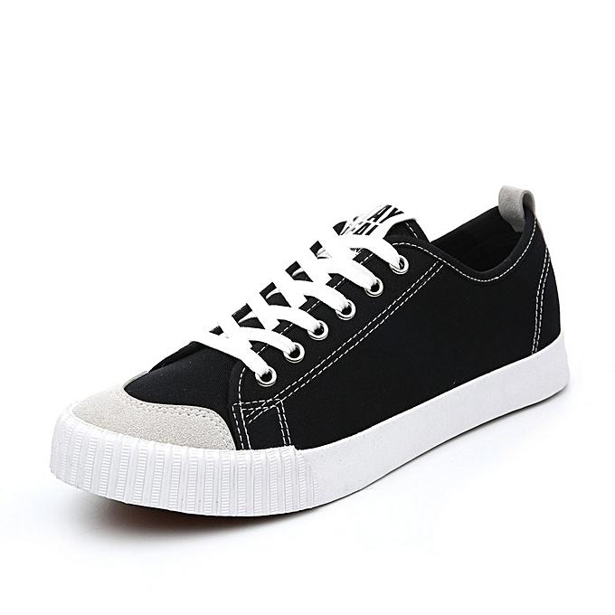 Other Wohommes Spbague nouveau respirant toile Korean Leisure Couple chaussures-noir à prix pas cher