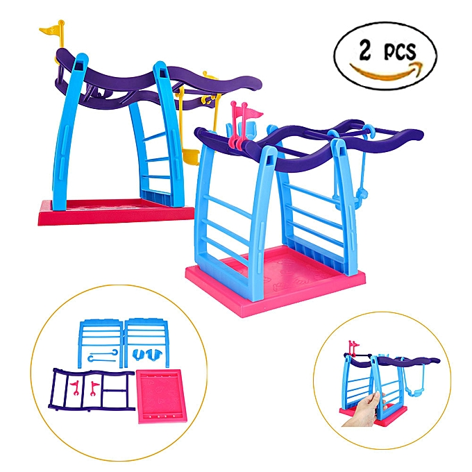 Generic 2PCS Jungle Swing Gym Playset Interactive Baby Monkey Climbing Stand Gift à prix pas cher