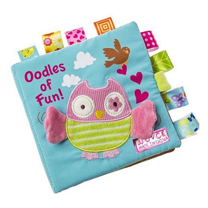 Generic Animals Owl Soft Cloth   Intelligence DevelopHommest Learn Picture Cognize Book à prix pas cher