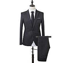 37ef7da42e12 Costume Pour Hommes Slim Fit Business - noir