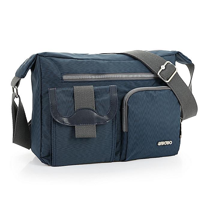 Other New Fashion Men's Shoulder Bag Vintage Denim and Nylon Men Messenger Bag Korean Style Cool femmes Waterproof Handbag AWM89(bleu) à prix pas cher