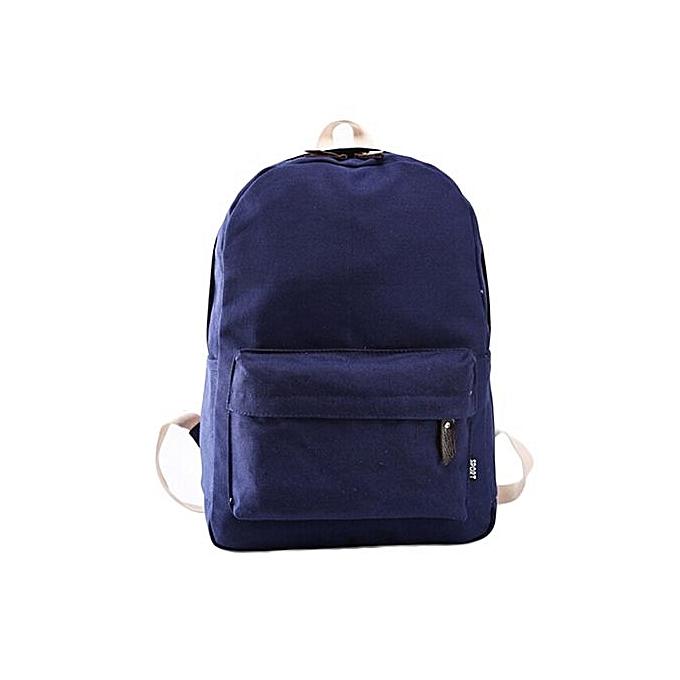 Generic femmes Canvas School Bag Girl Backpack Travel Rucksack Shoulder Bag DB à prix pas cher