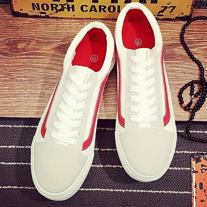 Other nouveau mode Hommes's Décontracté Flat Sole blanc toile chaussures à prix pas cher