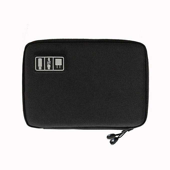 Other New Electronic Accessories Travel Bag Nylon Mens Travel Organizer For Date Line SD Card USB Cable Digital Device Bag(noir) à prix pas cher