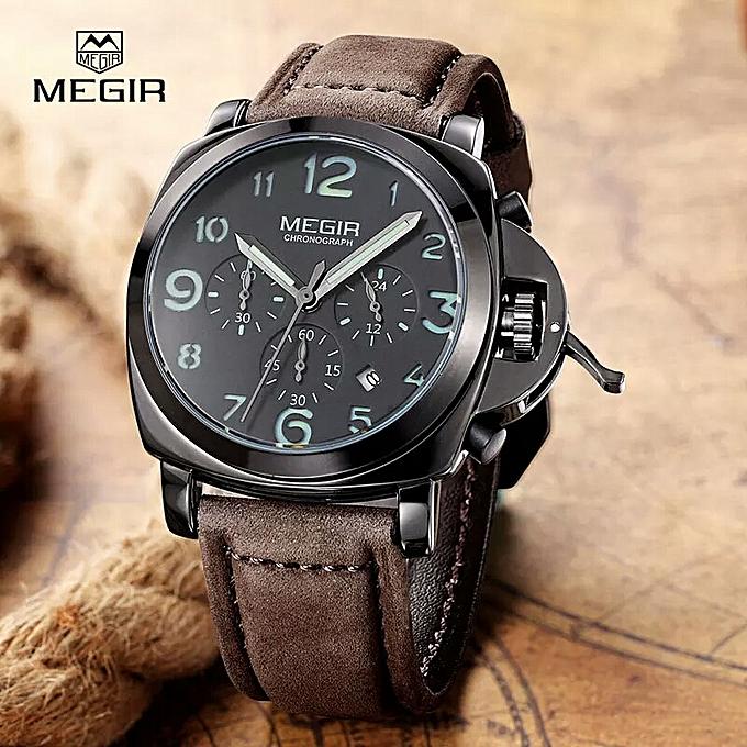 82416dbc89d72 Megir ساعة رجالية اصلية 100% فاخرة