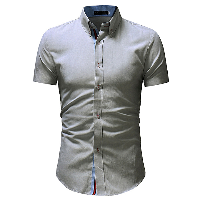 Fashion Men Printing Tees Shirt Short Sleeve T Shirt Blouse M -noir à prix pas cher