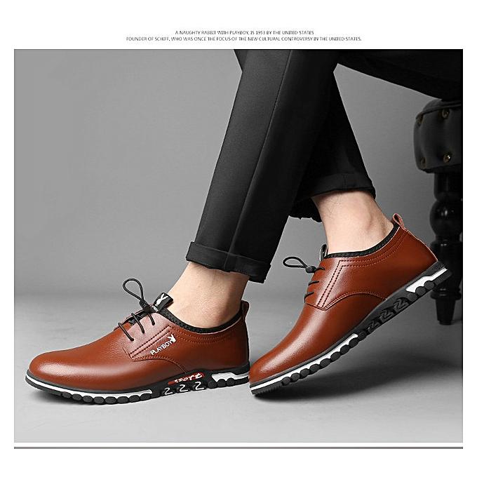 Fashion Men's leather chaussures, business casual chaussures, fashion à prix pas cher    Jumia Maroc