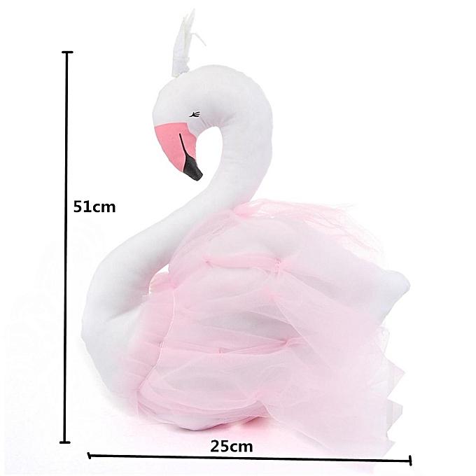 OEM blanc Swan PilFaible Handmade Enfants   Princess Toys rose Mouth Crown Lace 51x25CM à prix pas cher