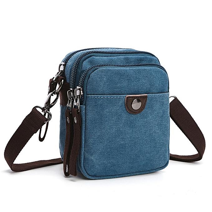 Fashion New 2019 Design Men Canvas Small Messenger Bag High Quality Casual Handbags Crossbody Shoulder Bags Military bolsa an682 à prix pas cher