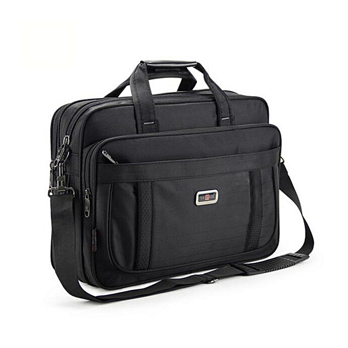 Other OYIXINGER 2019 Clic Briefcases For Men Handbags High Quality Waterproof Nylon Cloth femmes Business Travel 15 Inch Laptop Bags(noir) à prix pas cher